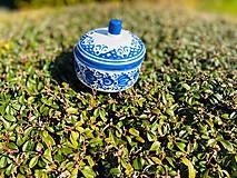 Nádoby - Modrá cukornička - 11706120_