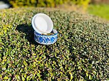 Nádoby - Modrá cukornička - 11706121_