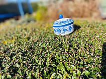 Nádoby - Modrá cukornička - 11706122_