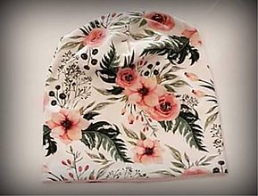 Detské čiapky - Kvetinková čiapka - 11703799_
