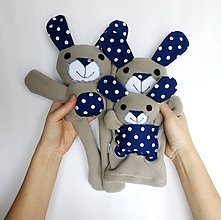 Hračky - Maňuška zajačik (Rodinka Uškových z Bodkova) - 11705833_