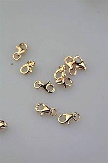 Komponenty - karabínka striebro Ag925/1000 s krúžkom - pozlátená ružovým zlatom - 11706440_