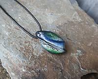 Náhrdelníky - Modro-zelený kamenný prívesok - 11706059_