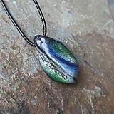 Náhrdelníky - Modro-zelený kamenný prívesok - 11706060_