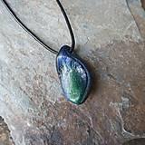 Náhrdelníky - Modro-zelený kamenný prívesok - 11706063_