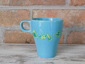 Nádoby - Modrý hrnček - Biker - 11704465_