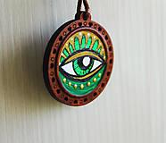 Náhrdelníky - Oko zelené - prívesok - 11706082_