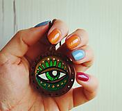 Náhrdelníky - Oko zelené - prívesok - 11706125_