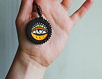 Náhrdelníky - Oko žlté - prívesok - 11706190_