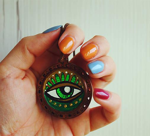 Oko zelené - prívesok
