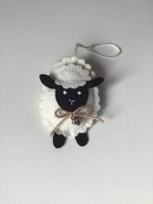 Dekorácie - Veľkonočné vajíčka - ovečka, prasiatko, zajačik (Čierna ovečka) - 11704949_