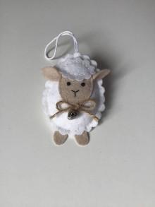Dekorácie - Veľkonočné vajíčka - ovečka, prasiatko, zajačik (Biela ovečka) - 11704953_