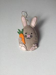 Dekorácie - Veľkonočné vajíčka - ovečka, prasiatko, zajačik (Zajačik) - 11704965_