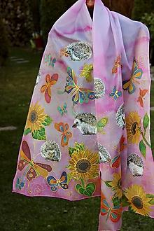 Šály - Šál ježkovia, slnečnice a motýle... - 11705158_