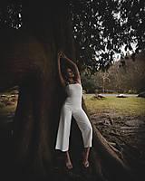 Iné oblečenie - Rosie biely ľanový overal - 11705553_