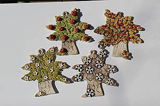 Dobrý obchod - Umenie_srdca: Keramické stromčeky 4 ročné obdobia, set 4 ks - 11704128_