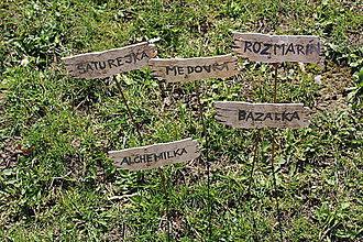 Dobrý obchod - Umenie_srdca: Keramický označovač do záhradky - 11704171_