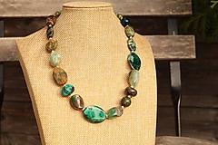 Náhrdelníky - Náhrdelník z minerálov green - 11705991_
