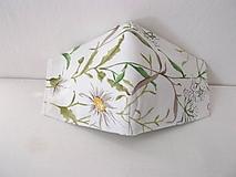 Rúška - rúško,lúčne kvety+filter/trojvrstvové - 11705189_