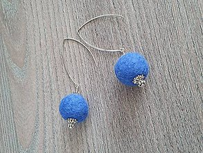 Náušnice - Modré plstene - 11709405_
