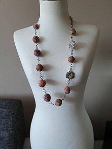 Náhrdelníky - Melírovaný plstený náhrdelnik - 11709654_
