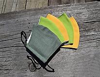 Rúška - Dvojvrstvové  rúška...SKLADOM (žltá) - 11708540_