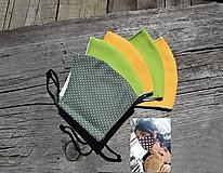 Rúška - Dvojvrstvové  rúška...SKLADOM (žltá) - 11708590_
