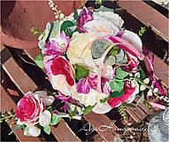Kytice pre nevestu - svadobná kytica - 11709817_