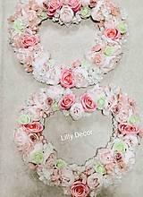 Kytice pre nevestu - Svadobné srdce pastelové na auto alebo za novomanželov na zavesenie - 11708711_