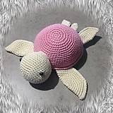 Hračky - korytnačka ružová SKLADOM - 11710960_