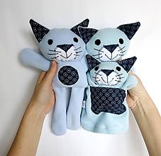 Hračky - Maňuška mačka (Rodinka Modrých z Kvietkova - na objednávku) - 11711025_