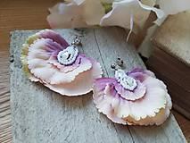 Náušnice - Náušničky hortenzia striebro - 11710999_