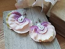 Náušnice - Náušničky hortenzia striebro - 11711000_