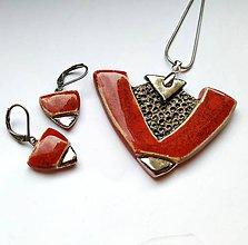 Sady šperkov - Keramická sada šperkov- V červenej... - 11710871_