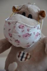 Rúška - Detské rúško na tvár (Ružová ruža) - 11708907_