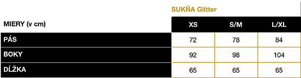Sukne - SUKŇA GLITTER BROWN - 11708955_