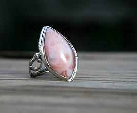 Prstene - Botswanský achát - strieborný prsteň - 59 veľkosť - 11709342_