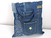 Nákupné tašky - Riflová taška - 11707671_