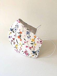 """Rúška - Dvojvrstvové rúško """"farebné kvetinky"""" - 11707559_"""