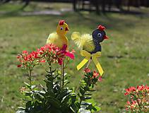 Dobrý obchod - Umenie_srdca: Zapichovacia sliepočka do kvetináča, set 2 ks - 11708706_
