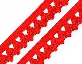 Galantéria - Guma 18mm na rúška ozdobná - červená - 11708787_