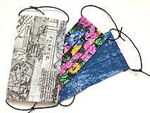 Rúška - Jednovrstvové bavlnené rúško - vzorované - 11709740_
