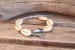 Náramky - Náramok z mušlí natural/silver - 11709944_