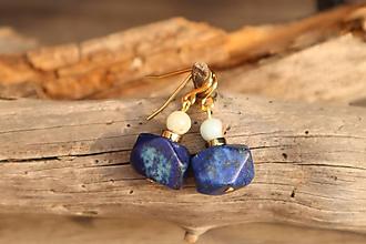 Náušnice - Náušnice z minerálu lapis lazuli a regalit - 11708055_