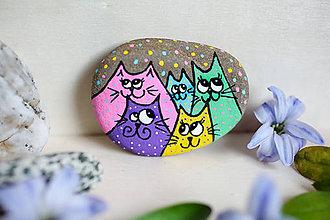 Dekorácie - Mačacia rodinka - 11708259_