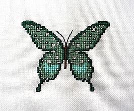 Obrázky - Výšivka - Motýľ zelený - 11715293_
