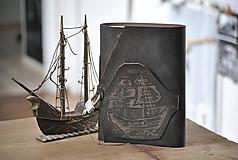 Papiernictvo - kožený zápisník - lodný denník SECRET - 11712838_
