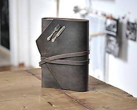 Papiernictvo - kožený zápisník - receptár CULINARIO - 11714585_