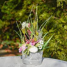 Dekorácie - Jarná dekorácia s ružovým vtáčikom - 11713317_