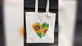 Iné tašky - ♥ Plátená, ručne maľovaná taška ♥ - 11711730_